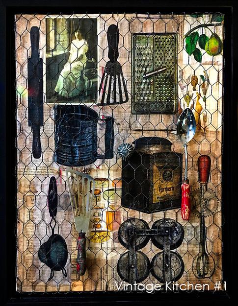 Vintage Kitchen Collage #1