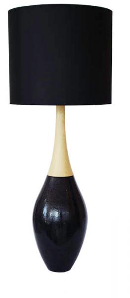 Lamp wood blk