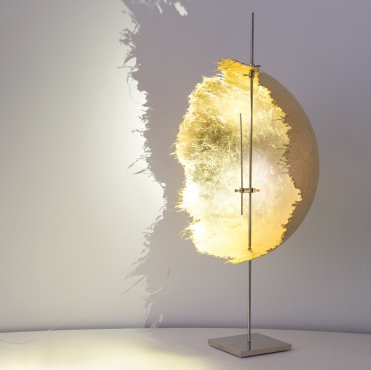 Table lamp gold leave