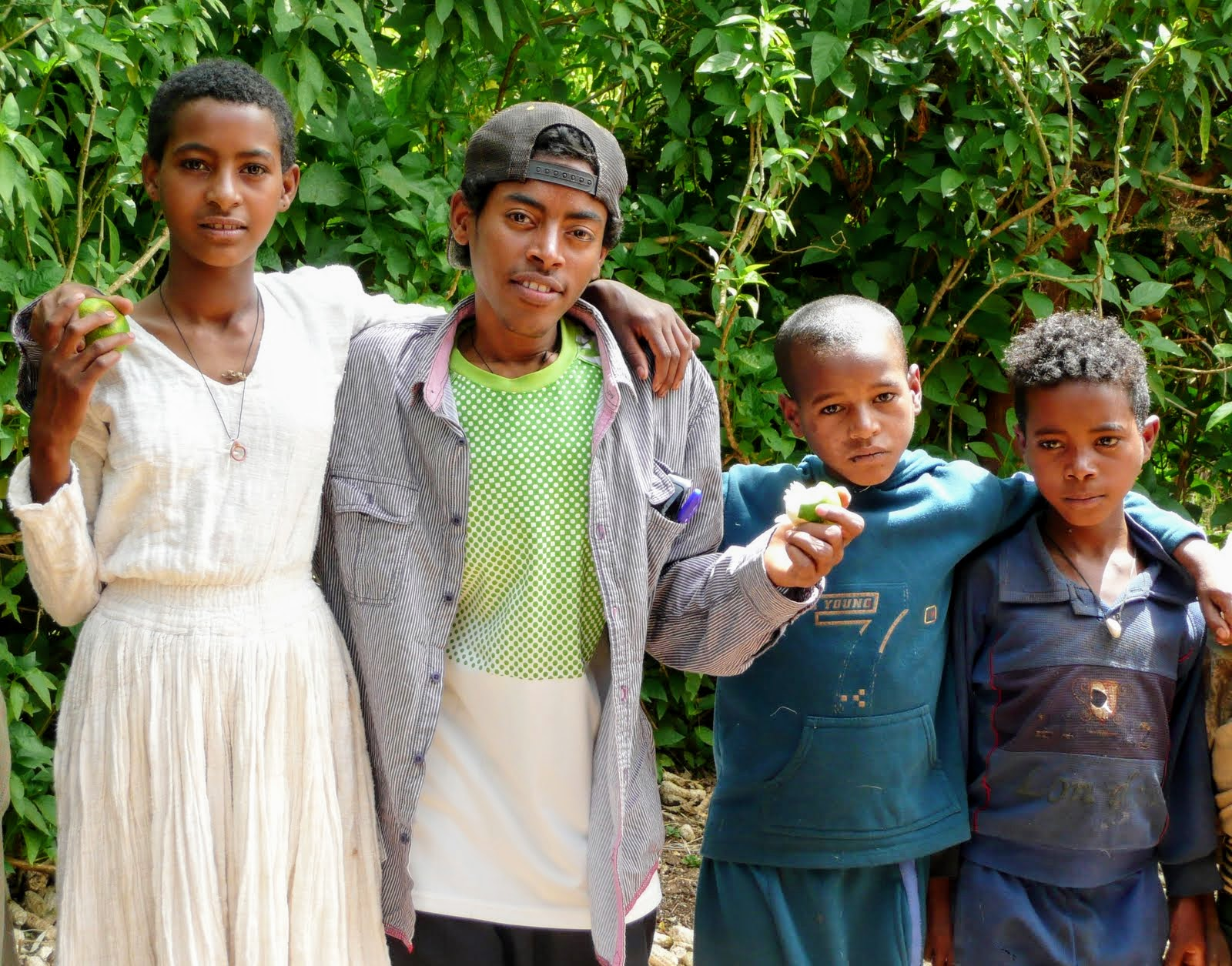 Tesfaye, Fanteye and two brothers.