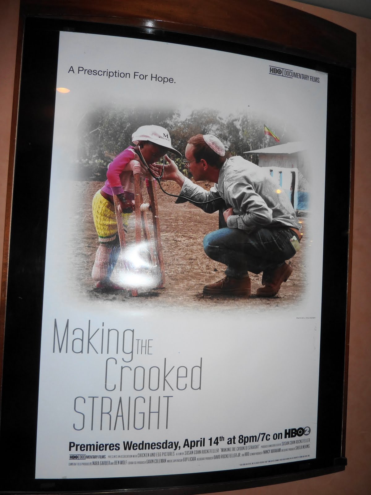 """""""Making the Crooked Straight"""" poster"""