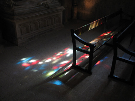 Sunlit Church Interior, Provence (copyright: Philip J. Richter)