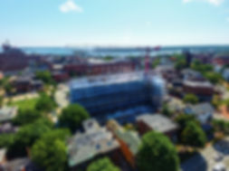 Aerial Photo of Construction Site Progress