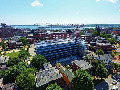 Aerial Photo of Construction Site Progress