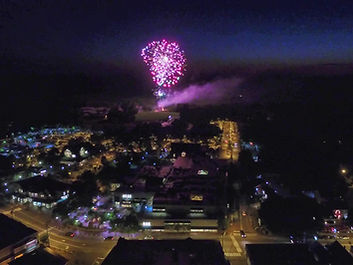 Aerial Photography of Event Fireworks