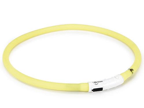 Lyshalsbånd m. USB lader