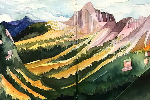 Sketchbook Print / Washington Valley, North Cascades