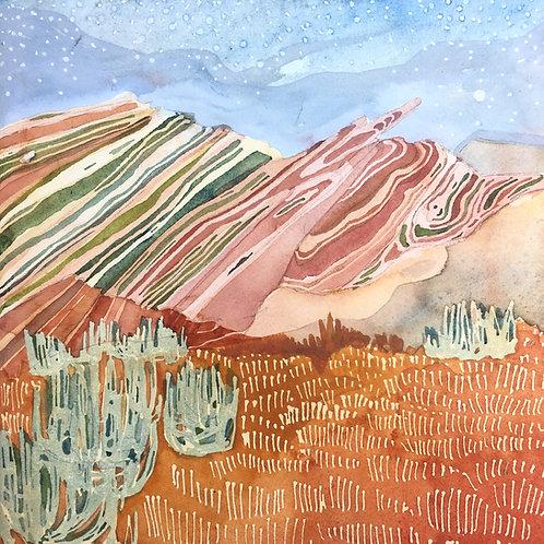 Sketchbook Print / Vasquez Rocks, California