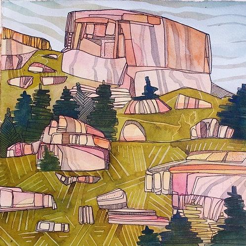 Sketchbook Print / Yosemite Wilderness, California