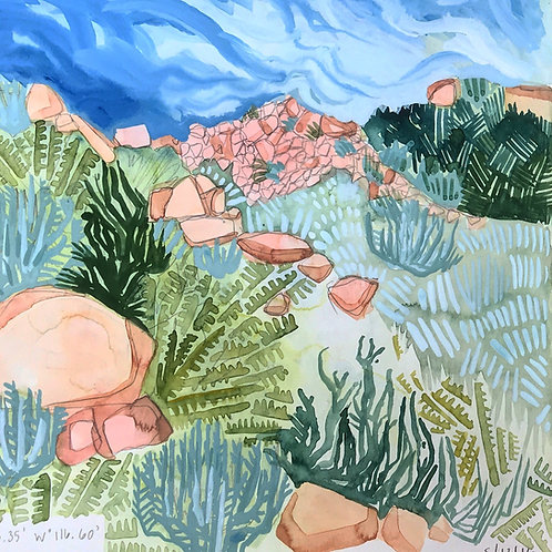 Sketchbook Print / Sagebrush Desert, California