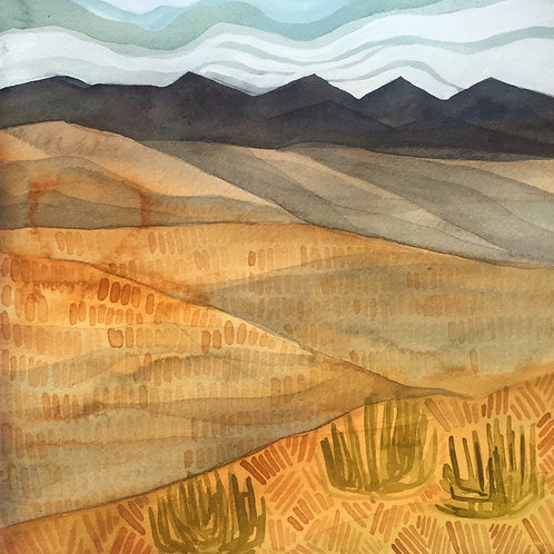 Sketchbook Print / The Beginning of The Mojave, California