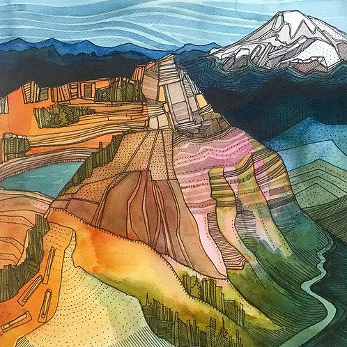 Sketchbook Print / The Knife's Edge, Goat Rocks, Washington