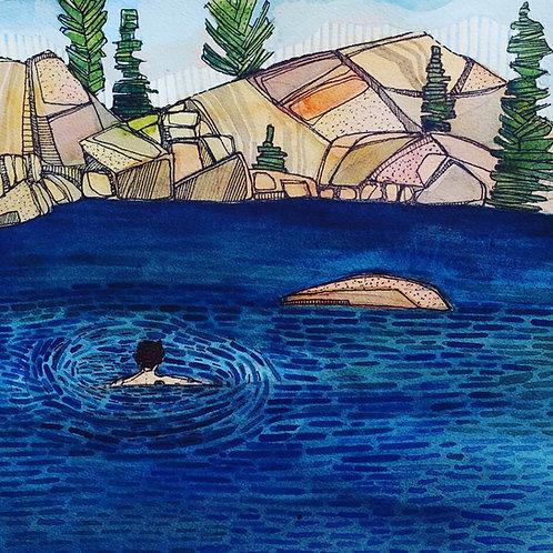 Sketchbook Print / Alpine Lake, California