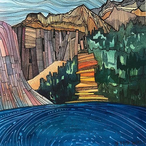 Sketchbook Print / Dutch Miller Gap, Washington