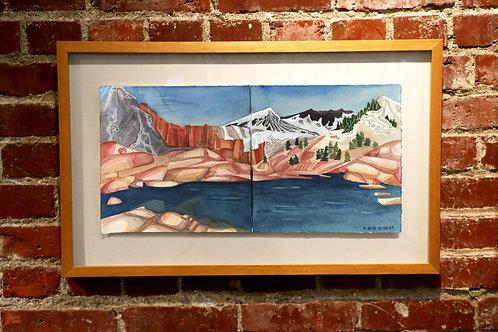 Evolution Lake after Muir Pass / Framed
