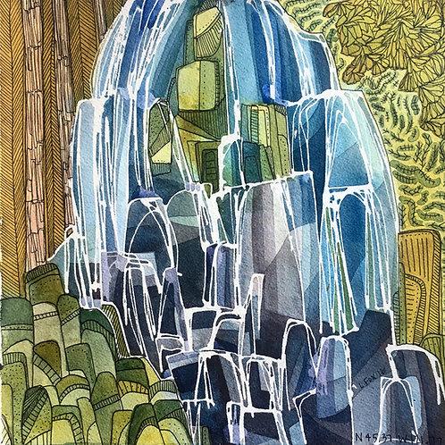 Sketchbook Print / Ramona Falls, Oregon