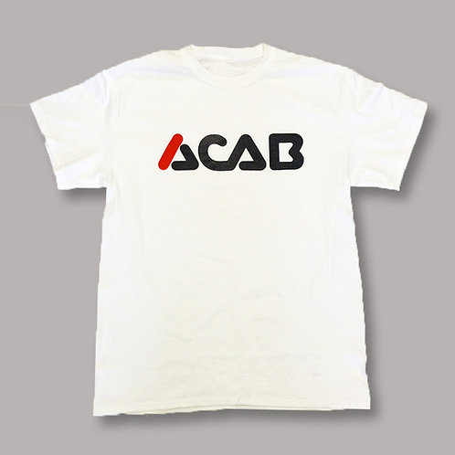 'ACAB'  - navy on white