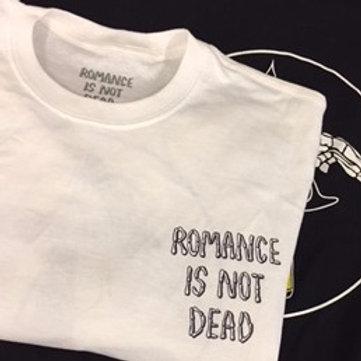 'ROMANCE IS NOT DEAD' White bucky tee