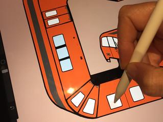 Glasgow clockwork orange illustration