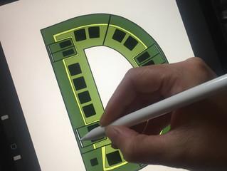 D for Dublin. Dublin dart train.