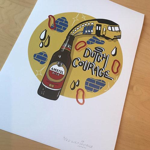 DUTCH COURAGE - A3 print