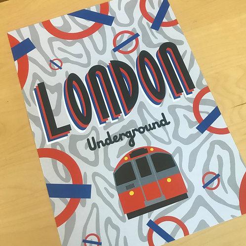 'LONDON UNDERGROUND'  A3 print
