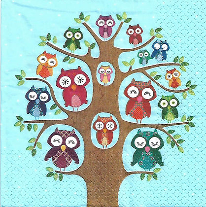 Owl family tree blue Referencia 6002