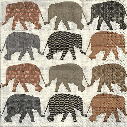 Elephants with pattern