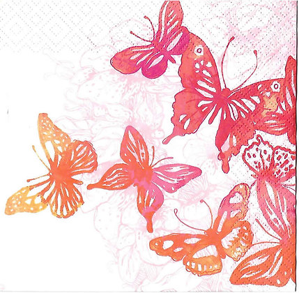 Amazing butterflies red