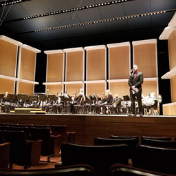 """Premiere of """"March through of the Northern Pines"""" with the University of Minnesota Symphonic Band.   PC: Katrina Clements"""
