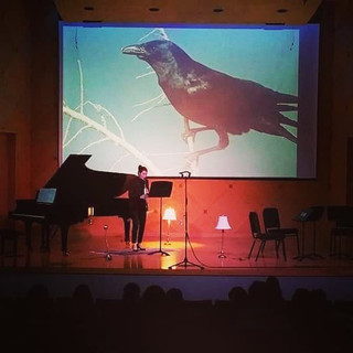 "Premiere of ""Suite for Birds"" given by Katrina Clements.  PC: Joshua Gardner"