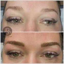 Eyebrow microblading full brows