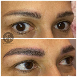 eyebrow microblading thick full brows