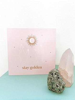 Stay golden גלויה