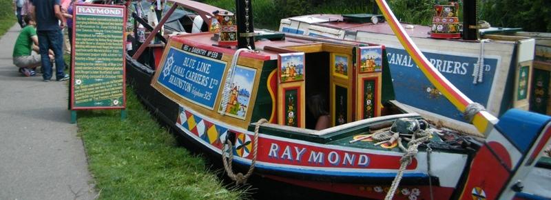 Visiting historic Boats