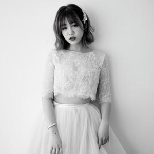 #兩件式 #輕婚紗 #精緻蕾絲 #五分袖 #離身設計