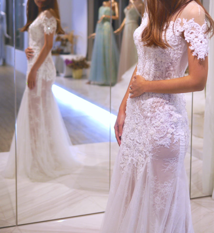 #細緻珠工設計 #蕾絲混搭 #性感優雅的結合