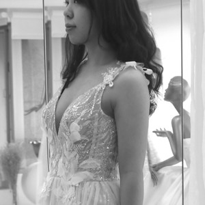 #性感白紗  #3D立體蕾絲花 #內短裙