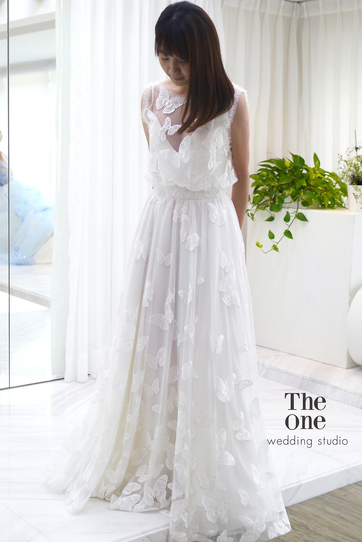 #蝴蝶蕾絲 #時尚離身設計 #齊地禮服