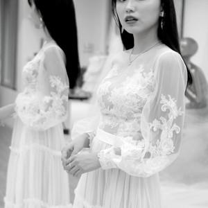 #輕紗禮服 #時尚設計 #長袖