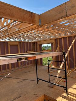 Plancher de deuxième étage en construction