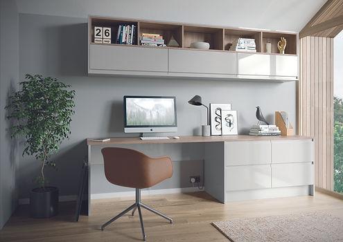 Strada Gloss Light Grey office desk