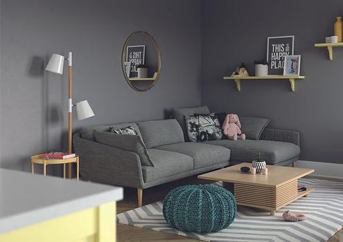 Living room interior design cosy area