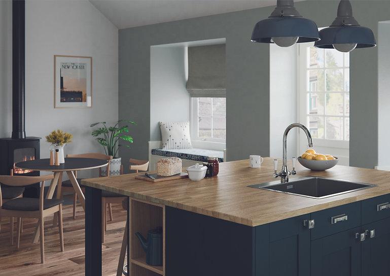 Kitchen living area, window seat