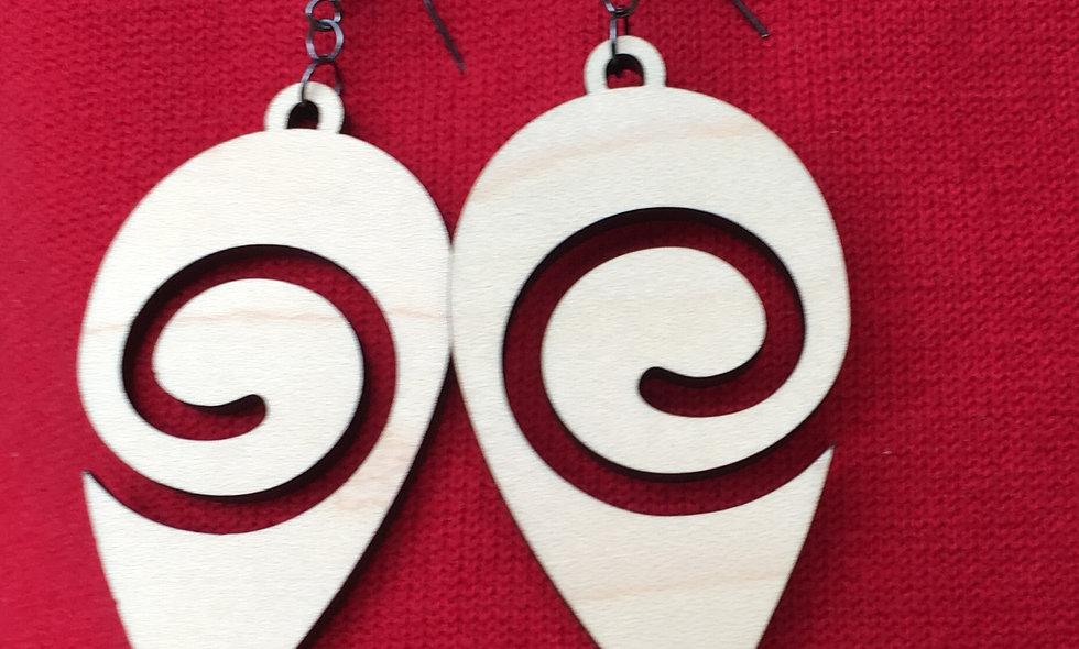 Swirly Reuleaux Earrings