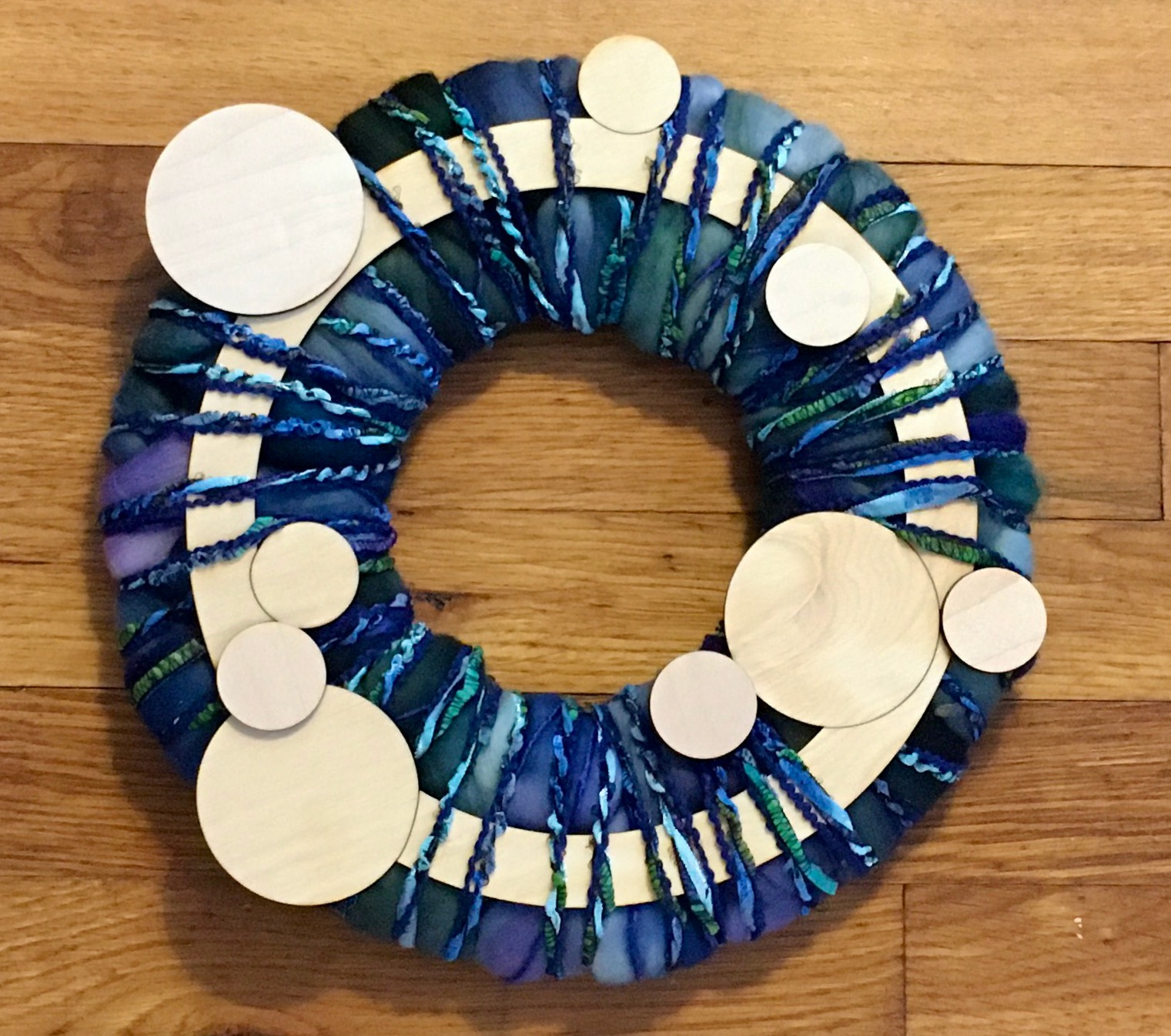 Circles Roving wreath