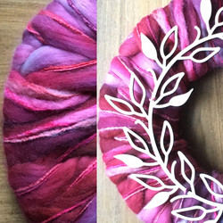 close up roving wreath
