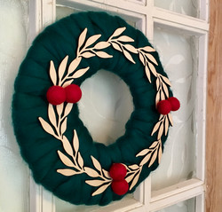 Holiday Roving Wreath