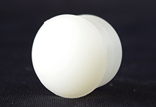 SCULL END CAP - WHITE