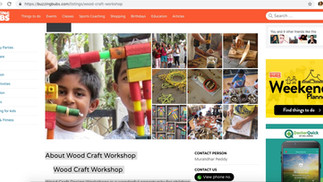 BUZZINGBUBS.COM about our kids workshops